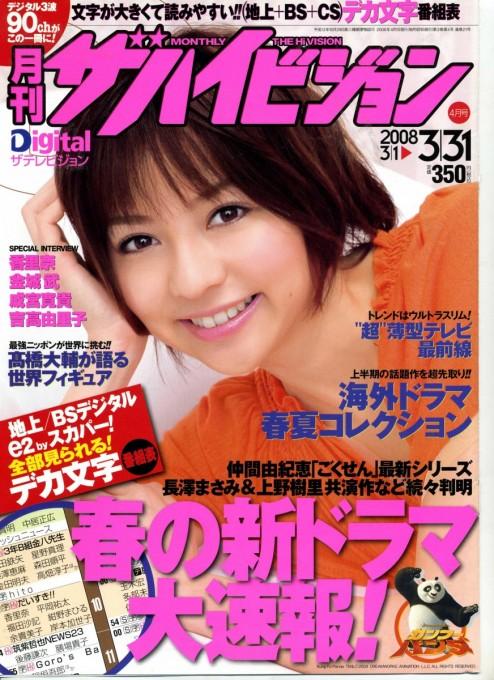 ザハイビジョン 2008年4月1日号表紙